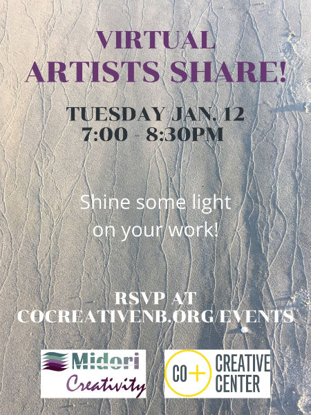 poster for january artists share event