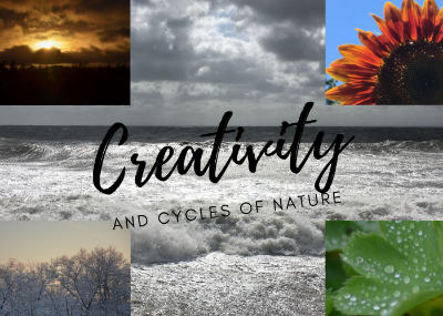 photo collage of nature scenes with text